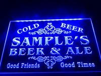 DZ049- Name Personalized Custom Beer & Ale Vintage Bar Cold Beer Neon Light Sign  hang sign home decor shop crafts led sign