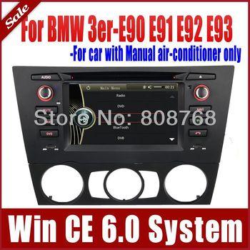 Auto Radio Car DVD Player GPS Navigation for BMW 3 Series E90 E91 E92 E93 with Radio Stereo Bluetooth TV SWC USB SD AUX Sat Nav