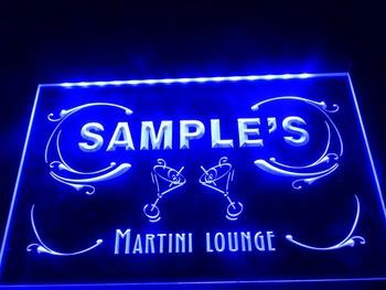 DZ069-b Name Personalized Custom Martini Lounge Cocktails Bar Wine Neon Light Sign led sign