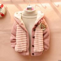 hot sale!! autumn and winter child outerwear Thick velvet Plush children coat children clothing girl jackets girl's outwear.