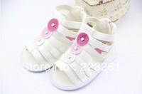 Free shipping 2013 hot sale baby summer sandals antiskid infant shoes for girls kids prewalker toddler girls shoes spot shoes
