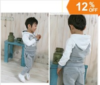 Free shipping Hot Sale Spring Baby Boys Hoody+pants Sports Clothing Set 2pcs suit  fit 2-6 Years Retail
