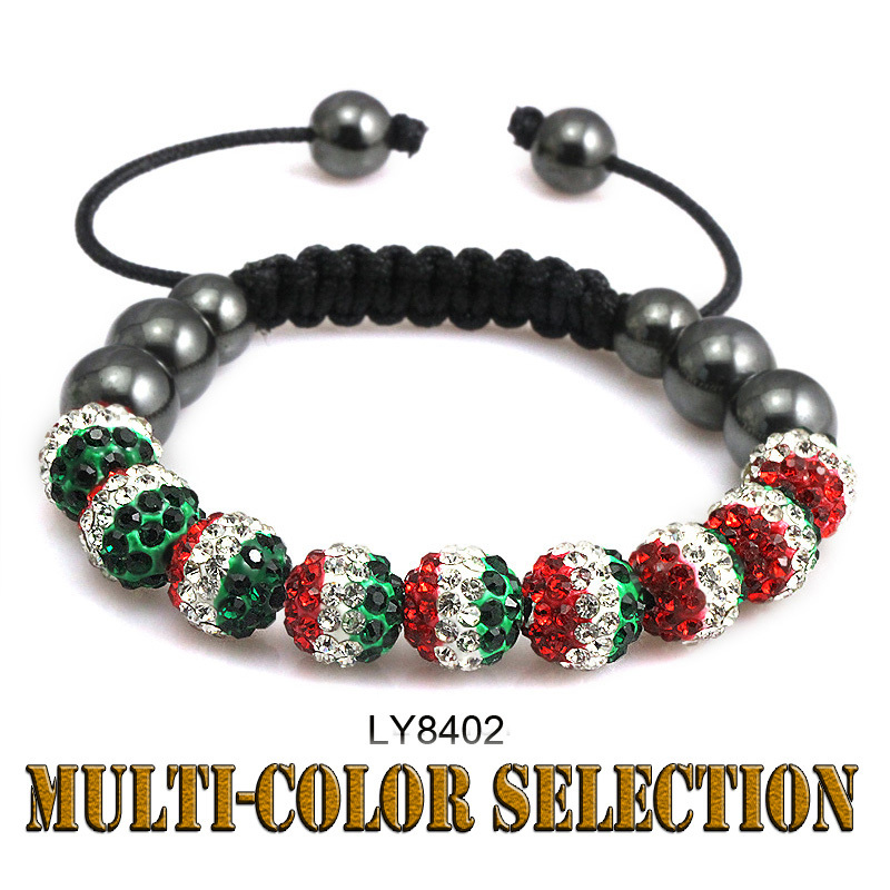 Handmade Jewelry Shamballa United States Britain Spanish Italian flag Crystal Bracelet Men for Women Fashion Jewelry 2013(China (Mainland))
