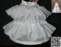 1-Hoop White flower girl petticoat Slip Underskirt Crinoline wr oo2