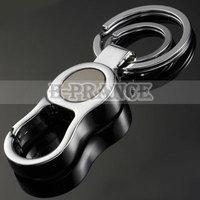 KeyChain Metal Stainless Steel Circular Logo Key Chain Free Shipping QC7