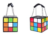 Free Shipping  Women's Hot Cute Magic Cube Bag Handbag Purse Korean Fashion Handbags hot sale tote's bag