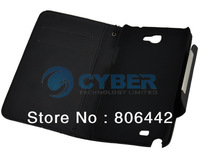 New Leather Wallet Case + Screen Protector +2 Charger + Cable For Samsung Galaxy Note II N7100 Free Shipping 11973