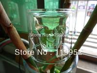 75ml Doomed Crystal Skull Shot Glass/Crystal Skull Head Vodka Shot Cup 6PCS/LOT Free shipping