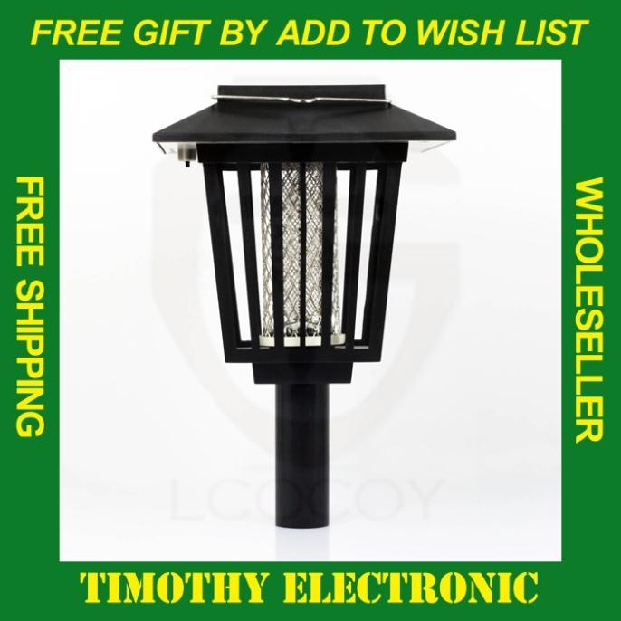Chaude! Lampe solaire 1pc antiparasitaires piège tueur de moustique répulsif jardin extérieur outils livraison gratuite par epacket& singapore post