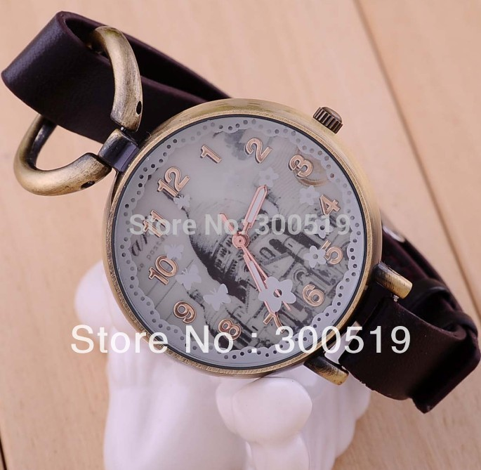 JW152 New Bronze Bracelet White House Design Watch Woman Wrist Watch Free Shipping(China (Mainland))