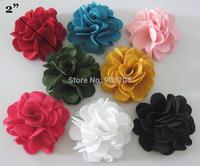F001 Ribbon rosettes 5cm&2inch fabric flower 20pcs mixed/choose colors garment accessories