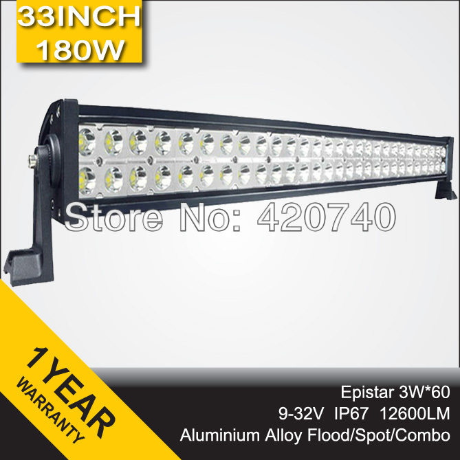 "180W 33"" inch Spot Flood Combo beam LED Light Bar Offroad Lamp Alloy 12V 24V Waterproof IP67 For JEEP SUV Truck Tractor 4WD(China (Mainland))"
