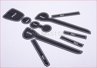 2011 2012 New volkswagen Polo Gate Slot Pad,door slot cunshion,tank gasket,noctilucent cup mat/pad,9pcs/set