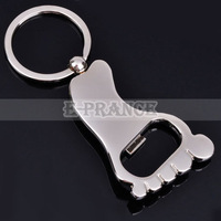 10pcs/lot Car Keychain Key Rings with Model of foot Bottle Opener Free Shipping