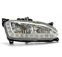 New arrival Hyundai IX45 New Santa Fe 2013 led drl daytime running light with fog light cup exact replacement easy assembly