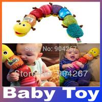 Popular Colorful Musical Inchworm Soft Lovely Developmental Educational Plush Stuffed Baby Toy Caterpillar