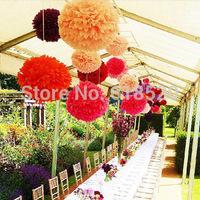 Wholesale (50pcs/lot) 30cm Tissue Pom Poms Paper Flower Ball Paper Lanterns Nursery Woodland Wedding Party Decoration