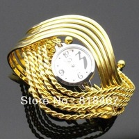 New Fashion Luxury Ladies Quartz Wristwatch Bangle Watch Silver and Gold Color Vintage Watch Hot Selling Hours