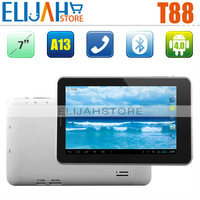7'' T88 Allwinner A13 2G phone calling tablet pc with SIM card slot Capacitive Camera Bluetooth Android 4.0 512MB RAM 4GB