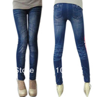 Free Drop-Shipping New Pencil Pants Leggings Stonewash Denim Skinny Stretchable  faux Jeans