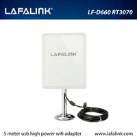 Outdoor High Power 150Mbps Wireless USB Adapter With High Gain Panel Antenna 802.11b/g/n wireless network card