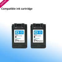 2pcs compatible ink cartridge for hp21 21 XL C9351AN  F380 F2120 F2180 F2280 F2179 F4180  3910, HP4311, HP1410