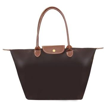 Nylon Tote Bag Hobos Women Large Carrier Shopping bag Storage Fold Shoulder Bags Travel Handbag Bolsas Factory Price Wholesale