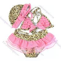 New Baby girl swimwear beach Kids Children's bikini swimsuit Wear Long Sleeve Sleepsuit Costumes Fancy Dress 13667