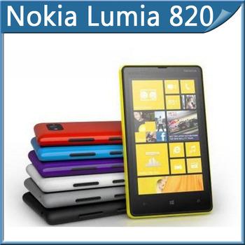 "Lumia 820 Original Unlocked Nokia Lumia 820 Smartphone 8MP GPS GSM 4.3"" capacitive touchscreen Bluetooth Wi-Fi Free Shipping"
