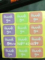 600pcs/lot, adhesive paper 3 colors  thank you  stickers 3.8*3.2cm ,best price in aliexpress!
