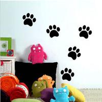 Free Shipping Bear Paw Print Kid Bedroom Living Room Decor Mural Art Vinyl Wall Sticker Home Window Decoration Decal  W063