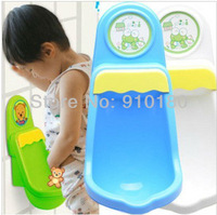 Free Shipping Retail Children Potty Toilet Training Kids Urinal Plastic for Boys Pee 2 colors in stock