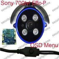 Outdoor SONY 700TVL Effio-P CCD Super WDR 4pcs Array IR Surveillance CCTV Waterproof Cameras OSD Menu