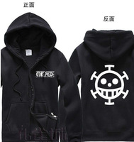 Free Shipping New Anime One Piece Trafalgar Law Logo Clothing Hooded Sweatshirt Cosplay Hoodie Costume