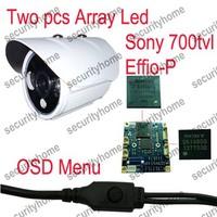 960H Super WDR SONY 700TVL Effio-P CCD Waterproof Surveillance 6mm Lens IR CCTV Outdoor Cameras OSD Menu