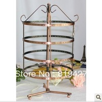 Rotatable 192 holes Metal Earrings Jewelry Display Stand Holder Show Rack Hanger free shipping