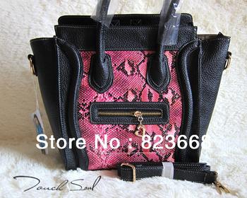 High quality fashion bags 2013 hot sale women's handbag nubuck leather smiley bag shoulder bag handbag