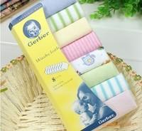 "Free Shipping! Gerber towel baby wash cloth 9""x9"" infant towel baby feeding towel handkerchief 8pcs/set"