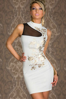 Free shipping + Lowest price New Sexy Floral Foil Print Bodycon Dress LC2668
