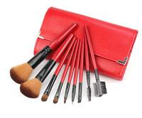 9 PCS Professional Makeup Cosmetic Brush set H1005C Gaot hair brush  for Facial Makeup Kit Case Red Fshow