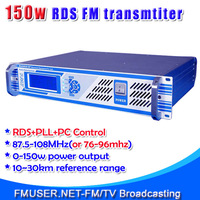 New! FMT-150D 150w RDS FM transmitter radio broadcaster for Countryside County City FM radio station