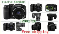 Hot sale FinePix S2995P 1280x720 HD Professional Telephoto 18 Times Wide Angle Optical Image Stabilizer Digital Cameras