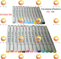 24-color finecolour Sketch Marker set & a free gift bag touch, half cheaper than Copic marker, Free shipping to USA on a budeget
