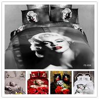 Marilyn Monroe 100% Cotton 3D Duvet/ Quilt Cover Set/Bedding Set 4PCS
