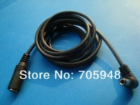 wholesale retail  freeshipping lot 2pcs 5.5mm x 2.5mm lead plug jack adapter DC Extension Power Cord Cable Right angle