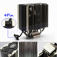 FREE SHIPPING 4Pin Heatpipe PC Computer DC 12V CPU Heatsinks Cooler Cooling Fan Support Intel AMD   1PC#FS031