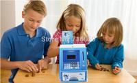 Blue English Voice ATM Bank Toy Digital Coin Note Save Money Box ATM Bank Machine money saving piggy bank Christmas Gift14