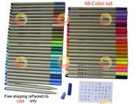 48-Color Finecolour Sketch Fineliner set water-based ink, 0.3mm line widths, watercolor fine liner pen set, free shipping to USA
