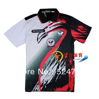 free shipping !2013 New butterfly Mens Sportswear Badminton / Table Tennis clothes sweat Polo Shirts 76BE