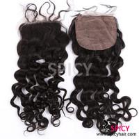 Wholesale 100% virgin Brazilian hair lace closure deep wave curly